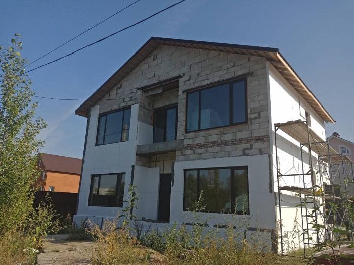 Фасадные работы, утепление дома ул.Арбековская 46